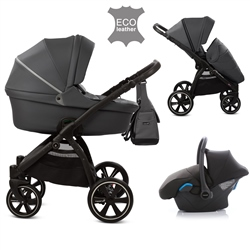 Noordi Fjordi Leather 3in1 Travel System, Shadow Grey