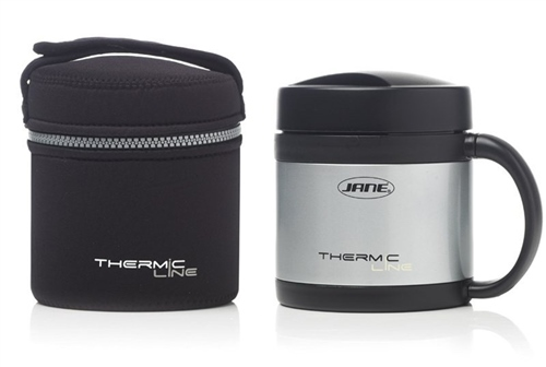 S/Steel Thermal Food Flask, 500cc  - Click to view larger image