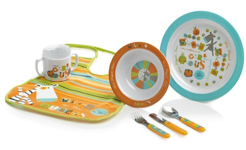 Jane 7 Piece Circus Melamine Feeding Set  - Click to view larger image