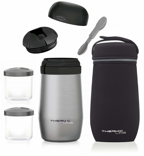 Stainless Steel Baby Food Thermal Flask (1L)  - Click to view larger image