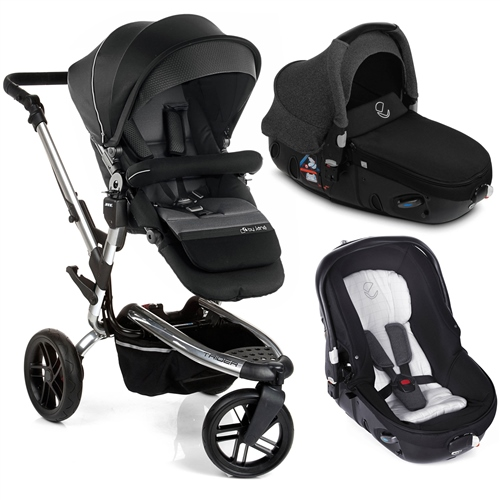 Trider + Matrix Travel System, Black II - Chrome  - Click to view larger image