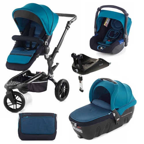 Trider + Transporter 2 + Koos + Isofix Base, Teal  - Click to view larger image