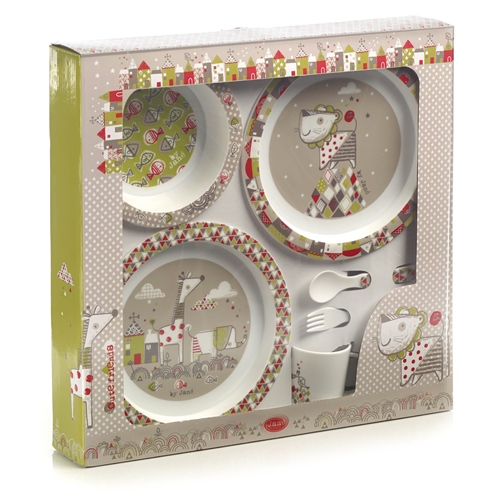 Jane 6 Piece Tangram II Microwave Feeding Set  - Click to view larger image
