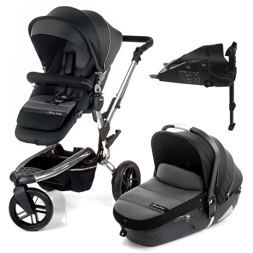 Trider + iMatrix + Isofix base, Black - Chrome  - Click to view larger image