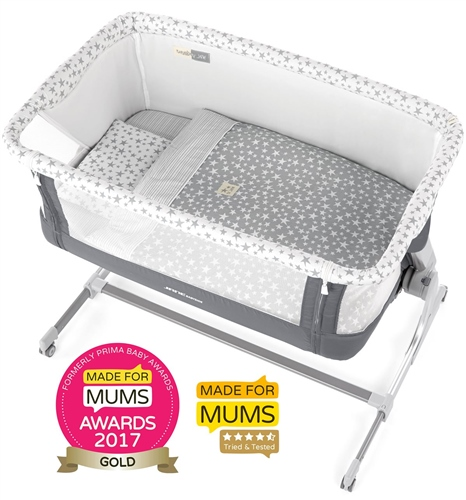 Jane Babyside Crib Luxe + 4 Piece Bedding set  - Click to view larger image
