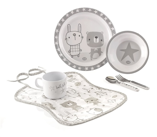 Jane 6 Piece Stars Microwave Feeding Set  - Click to view larger image