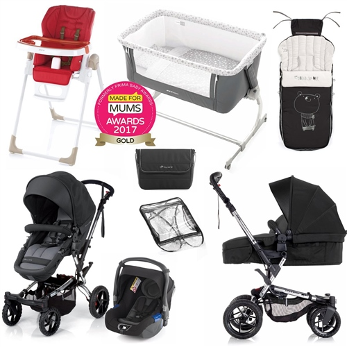 Complete Nursery & Travel System Bundle, Black  - Click to view larger image