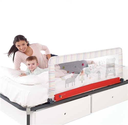 Foldable Bed Rail, Extended Height,130 x 55cm  - Click to view larger image