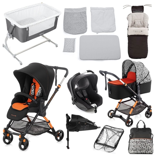 Complete Nursery & Travel System Bundle, Clouds  - Click to view larger image