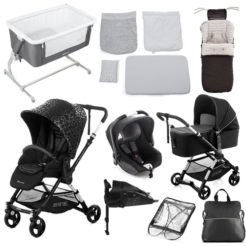 Complete Nursery & Travel System Bundle, Black Star  - Click to view larger image