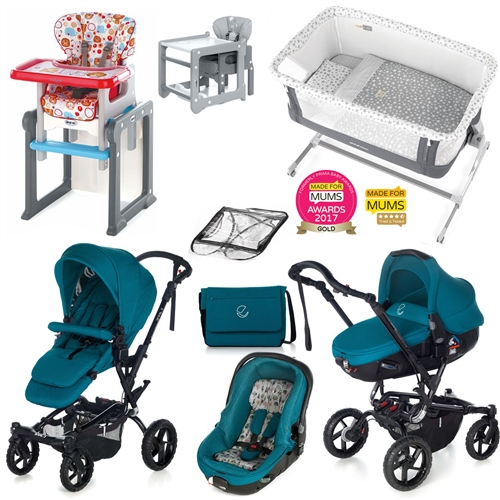 Complete Nursery & Travel System Bundle, Beryl  - Click to view larger image