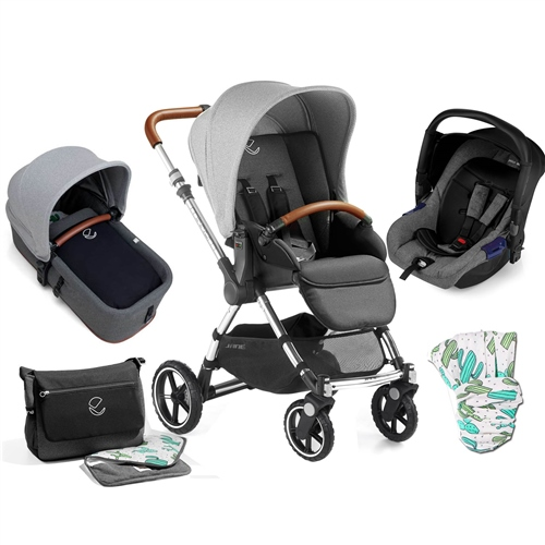 Jane Minnum Sport + Carrycot + Car Seat, Cactus  - Click to view larger image