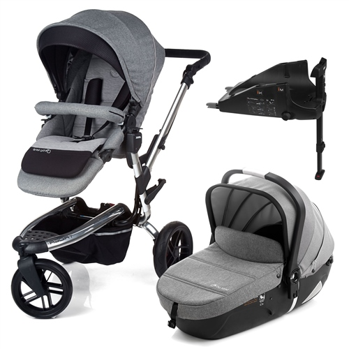 Jane Trider + iMatrix + Isofix base, Soil - Chrome  - Click to view larger image