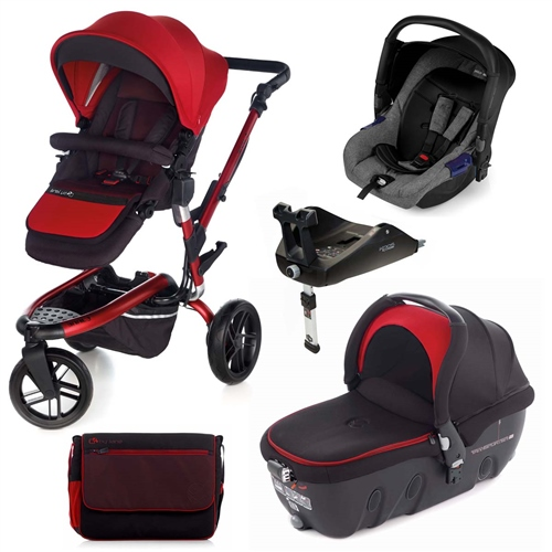Trider + Transporter 2 + Zero + Isofix Base, Red  - Click to view larger image