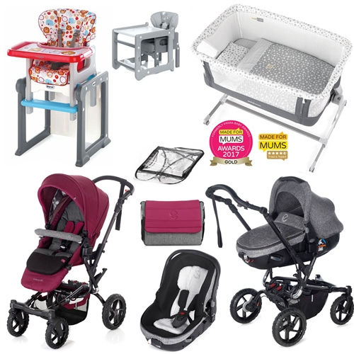 Complete Nursery & Travel System Bundle, Geyser  - Click to view larger image