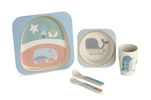 Jane Bamboo 5 Piece Dinner Set  - Click to view larger image