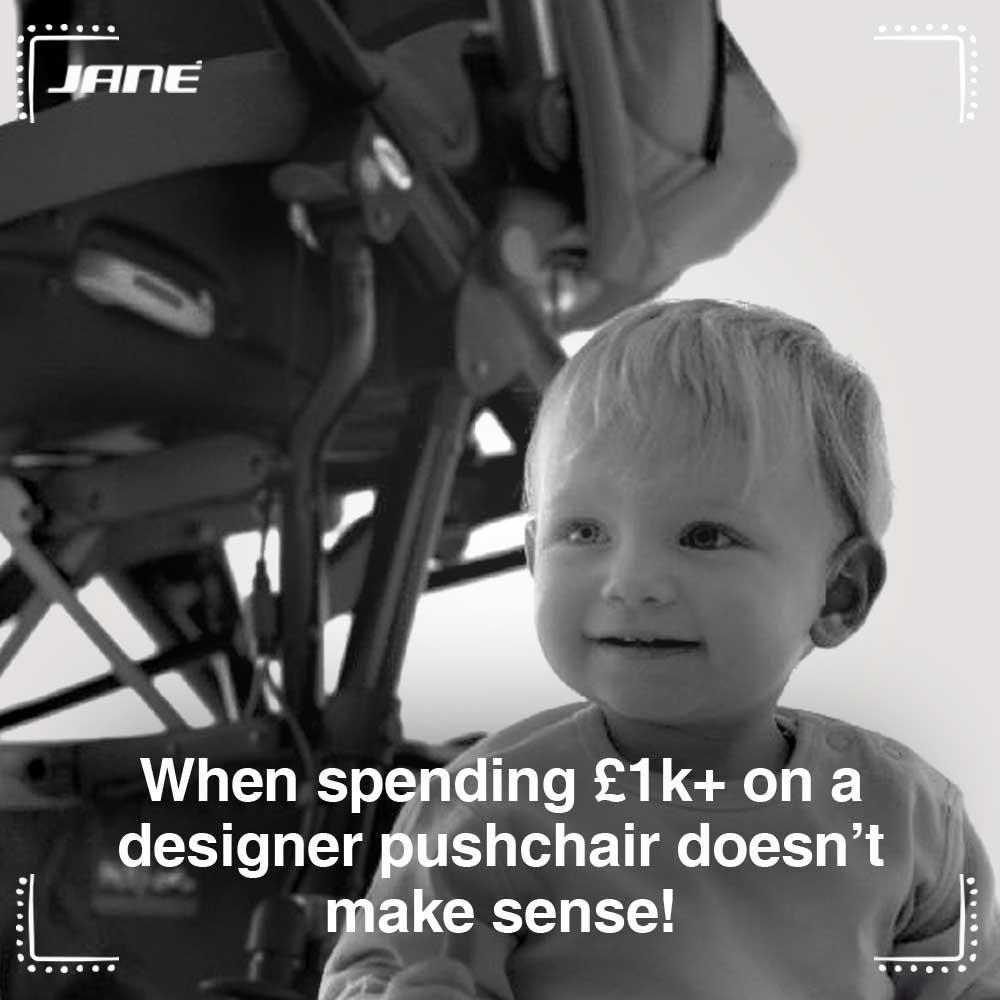 When spending well over £1k on a designer buggy just doesn't make sense….