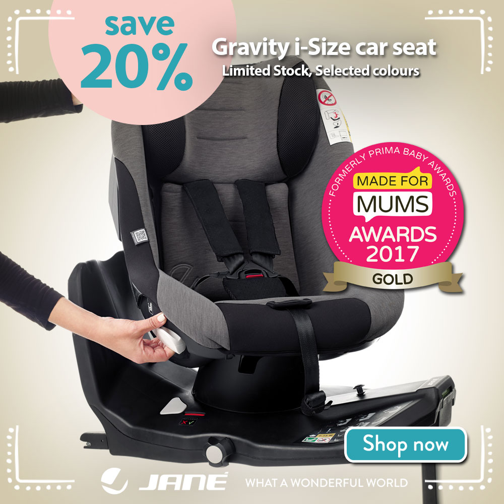 Save up to 20% on Jane Gravity car isize seats