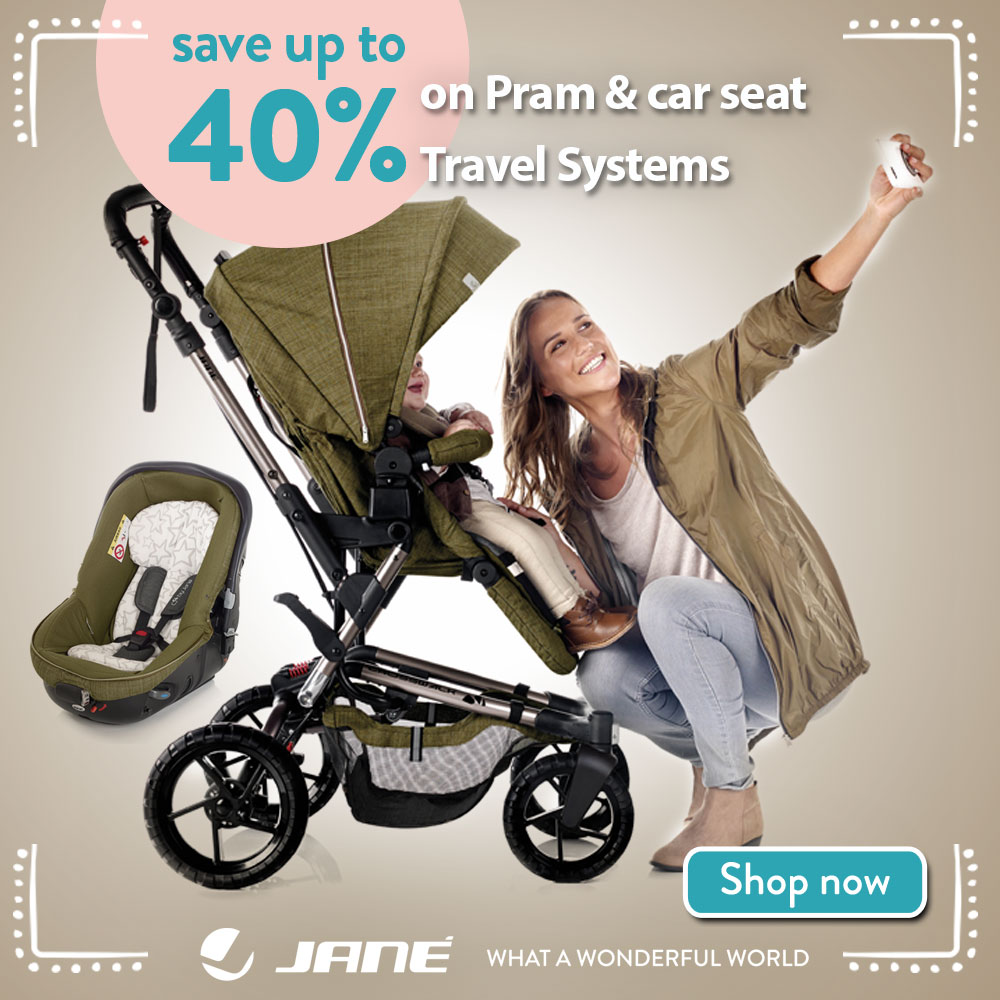 Save up to 40% on Pram and Travel systems