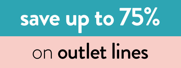 save up to 75% on outlet clearance lines
