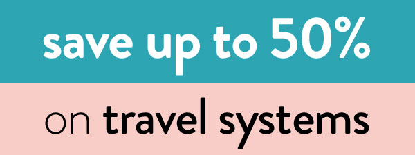 save up to 50% on travel system prams